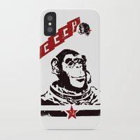 soviet iPhone & iPod Cases featuring Soviet Space Monkey by Chris Kawagiwa