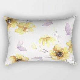 FLOWERS WATERCOLOR 27 Rectangular Pillow