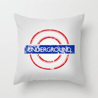 velvet underground Throw Pillows featuring Underground by eARTh