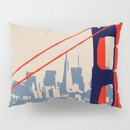 Golden gate bridge vector art Pillow Sham