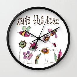 Save the Bees Wall Clock