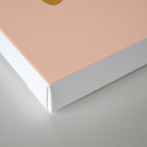 Abstract #1 Orange Blue Beige Canvas Print
