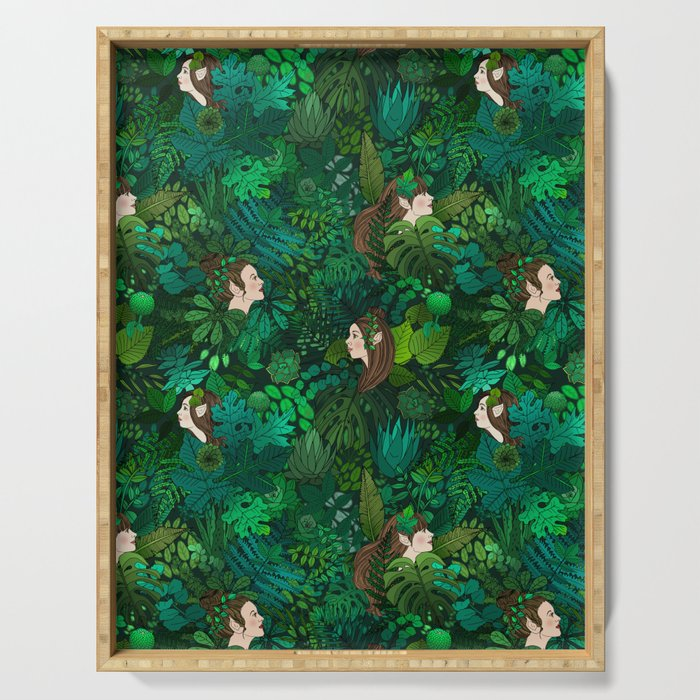 Fairies in an Enchanted Forest Serving Tray