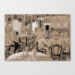 Three Bags Full Cafe Canvas Print