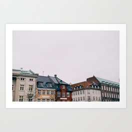 Copenhagen Homes II Art Print