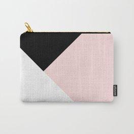 Blush meets Black & White Geometric #1 #minimal #decor #art #society6 Carry-All Pouch