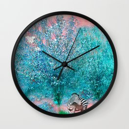 TREES AND ZEBRAS Wall Clock