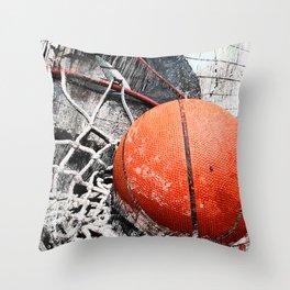 Modern Basketball Art 8 Throw Pillow