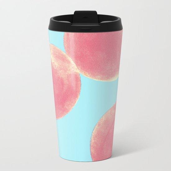 Peaches Metal Travel Mug