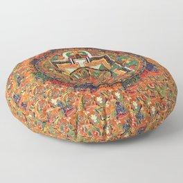 Buddhist Kalachakra Mandala DMT Vision Floor Pillow