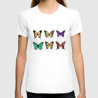 butterflies T-shirts featuring Butterflies by ShaMiLa