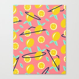 Lemons party #society6 #decor #buyart Canvas Print