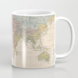 Vintage River Systems World Map (1852) Coffee Mug