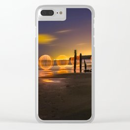 THE OC - Light Painting at Port Willunga, South Australia. Clear iPhone Case