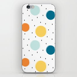cute colorful pattern with grunge circle shapes iPhone Skin
