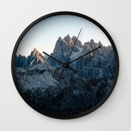 Dolomites - Mountain Sunrise Wall Clock