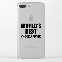 worlds best programmer Clear iPhone Case