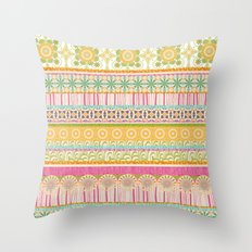 Candy Stripes Throw Pillow