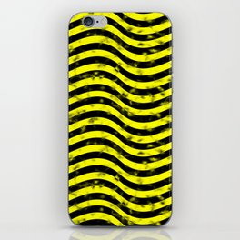 Wiggly Yellow and Black Speckle Pattern iPhone Skin