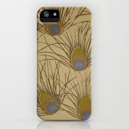 Peacock Screenprint iPhone Case