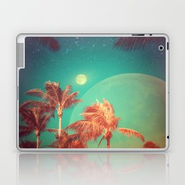 Moon Over Miami // Palm Trees Beach Island Florida Stars Space Digital Collage Astronomy Sunset Laptop & iPad Skin