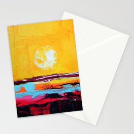 Abstract Landscape - My Moon Stationery Cards