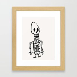 skeleton render #12 Framed Art Print