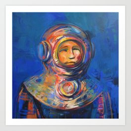 Deep Diving Art Print