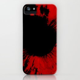 The red Iris iPhone Case