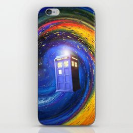 Tardis Doctor Who Fly into Time Vortex iPhone Skin