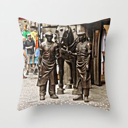 Stable Boys Throw Pillow