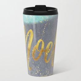 NOEL-Merry modern abstract christmas Travel Mug