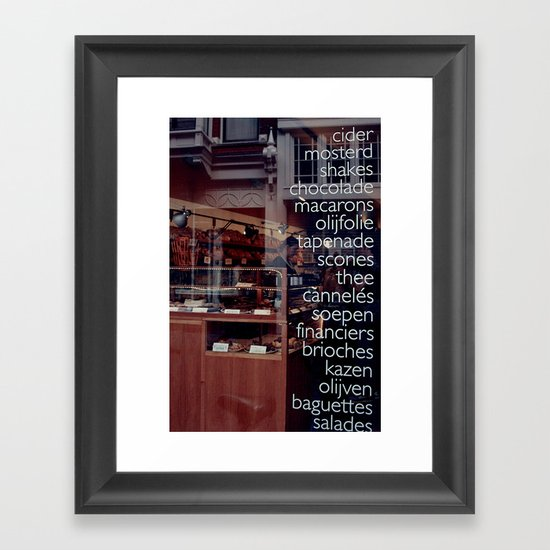 At the bakers Framed Art Print