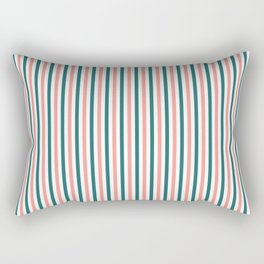 SKINNY STRIPES, TEAL AND PEACH Rectangular Pillow