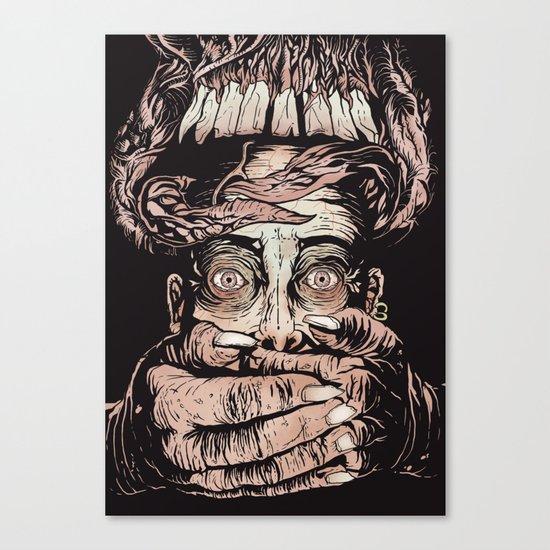 Demon hands Canvas Print