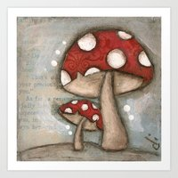 Mushrooms - by Diane Duda Art Print