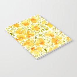 Watercolor California poppies (Quad set, #1) Notebook