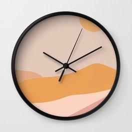 Abstract Minimalist Landscape Wall Clock