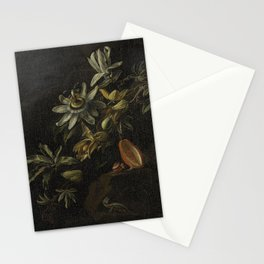Still Life with Passionflowers - Elias van den Broeck (1670 - 1708) Stationery Cards