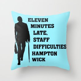 Eleven Minutes Late...Reginald Perrin Throw Pillow