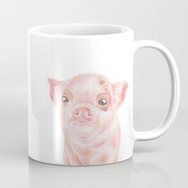Pig | Animals | Watercolour | Art | Painting | Nature | Farm Piglet | Peek-a-boo Coffee Mug