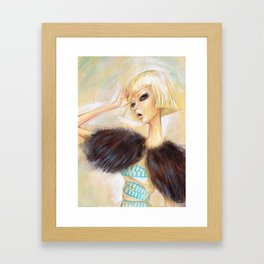 Fashion in White 2 Framed Art Print