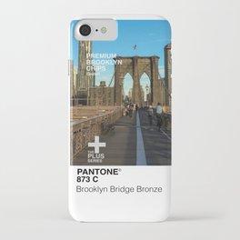 Pantone Brooklyn Bridge Bronze iPhone Case