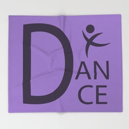 Purple Dance Symbol Throw Blanket