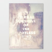 eternal sunshine of the spotless mind Canvas Prints featuring Eternal Sunshine of the Spotless Mind by gmdltkd0731
