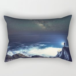 Searching the Stars Rectangular Pillow