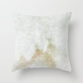 stained fantasy white marble Throw Pillow