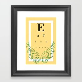 Eat Yummy Food! Framed Art Print