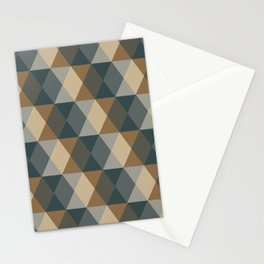 Caffeination Geometric Hexagonal Repeat Pattern Stationery Cards