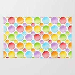 Rainbow Polka Dots Rug